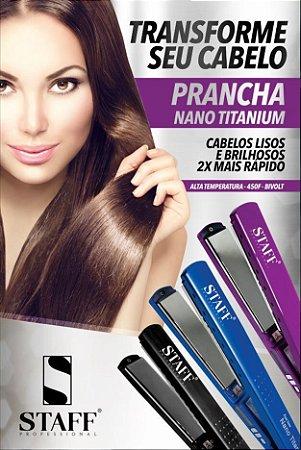 PRANCHA STAFF NANO TITÂNIO 450 GRAUS F