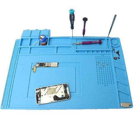 Borracha Manta Magnetico ESD Azul S-160 com Divisórias Dissipativa Condutiva para Bancada 30 X 45 CM