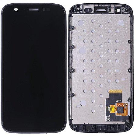 Tela Touch Display LCD Modulo Frontal Com Aro Motorola Moto G1