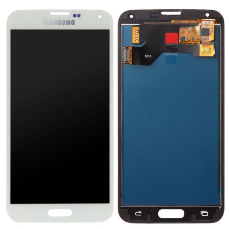 Tela Touch Display LCD Modulo Frontal Sem Aro Samsung Galaxy S5 I9600 G900 Branco