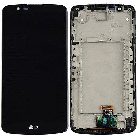 Tela Touch Display LCD Modulo Frontal Com Aro LG K10 *Sem CI K430 Preto