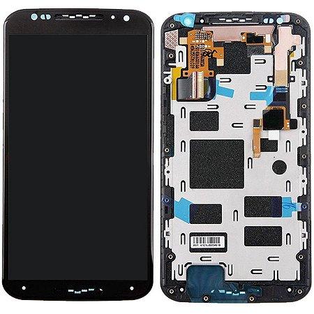 Tela Touch Display LCD Modulo Frontal Com Aro Motorola Moto X2 X 2 XT1097 XT1098 Preto