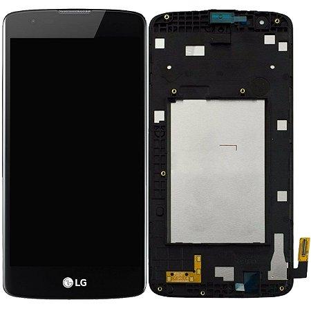 Tela Touch Display LCD Modulo Frontal Com Aro LG K8 4G Dual K350 K350ds Preto