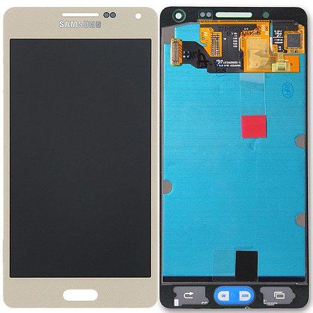 Tela Touch Display LCD Modulo Frontal Sem Aro Samsung Galaxy A5 4G DUOS A500 A500h Dourado