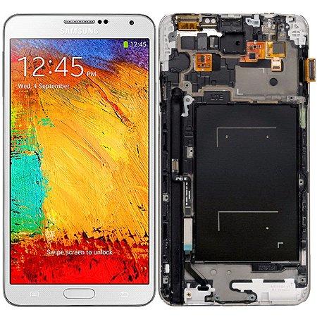 Tela Touch Display LCD Modulo Frontal Com Aro Samsung Galaxy Note 3 N9005 Sm-n9005 Branco