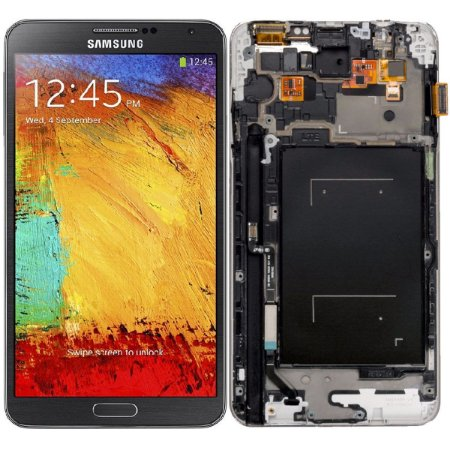 Tela Touch Display LCD Modulo Frontal Com Aro Samsung Galaxy Note 3 N9005 Sm-n9005 Preto