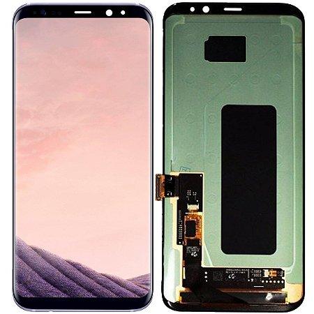 Tela Touch Display Lcd Modulo Frontal Sem Aro  Samsung Galaxy S8 Plus G955 S8+ Preto
