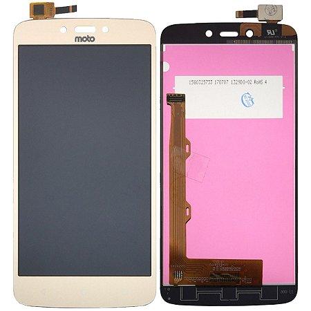 Tela Touch Display Lcd Modulo Frontal Sem Aro Motorola Moto C Plus Tv Xt1723 Xt1726 Dourado