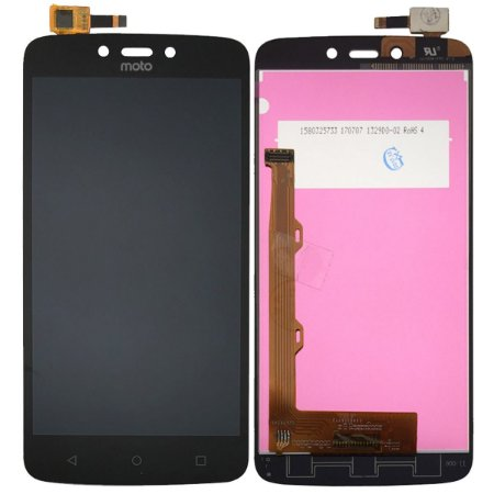 Tela Touch Display Lcd Modulo Frontal Sem Aro Motorola Moto C Plus Tv Xt1723 Xt1726 Preto