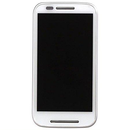 Tela Touch Display Lcd Modulo Frontal Com Aro Motorola Moto E1 Xt1022 Xt1025 Branco