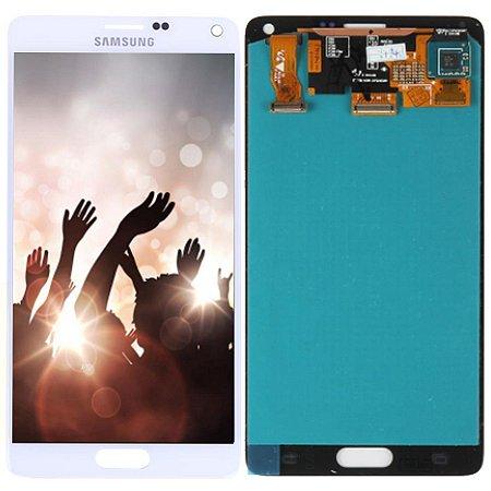 Tela Touch Display Lcd Modulo Frontal Sem Aro Samsung Galaxy Note 4 Sm-n910c N910 Branco