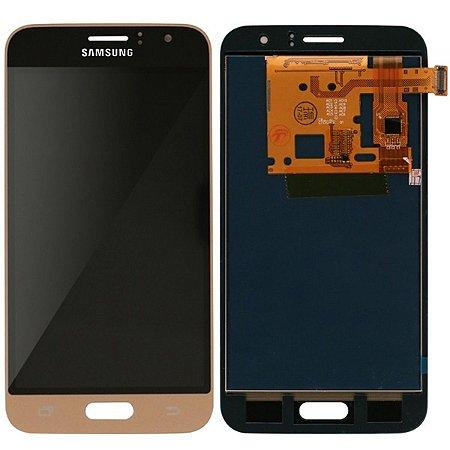 Tela Touch Display LCD Modulo Frontal Sem Aro Samsung Galaxy J1 2016 Duos J120 Dourado Paralelo