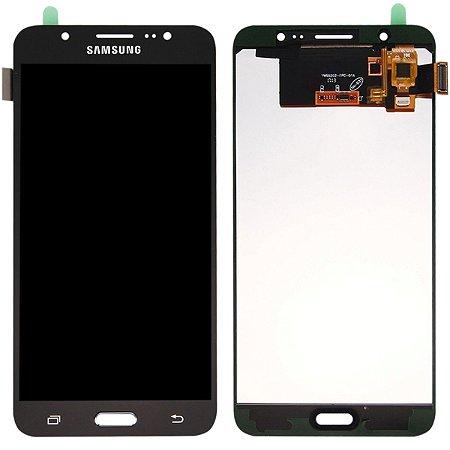 Tela Touch Display Lcd Modulo Frontal Sem Aro Samsung Galaxy J7 Metal Duos J710 Sem Ajuste de Brilho Preto