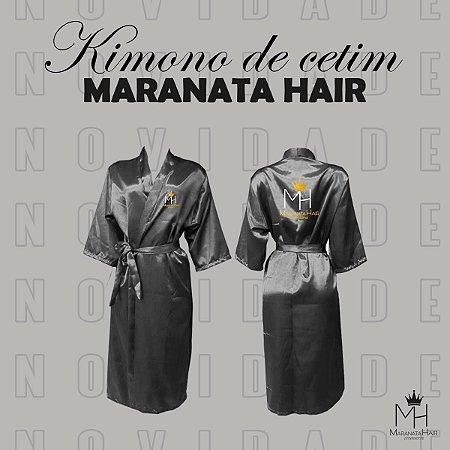 Kimono de Cetim Preto