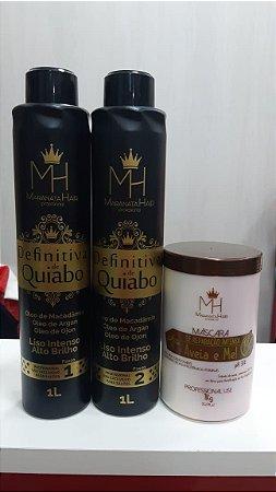 Definitiva de Quiabo + Máscara aveia e mel 1k