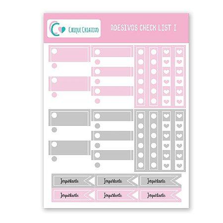 Cartela de Adesivos - Check List I