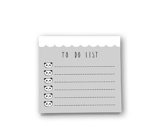 Bloco de Notas Pandinhas - To Do List