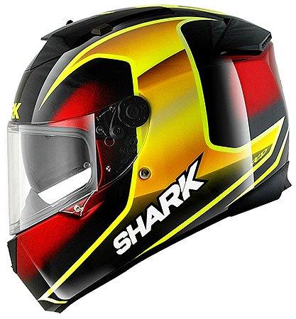 Capacete Shark Speed-R Max Vision StarK KYR Preto Vermelho e Amarelo