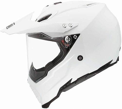 Capacete AGV AX8 Dual EVO Monocolor Branco