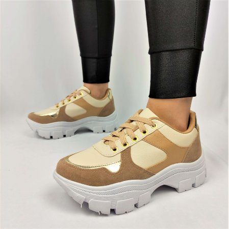 Tênis Chunky Sneaker Energy Amendôa com Ouro Light