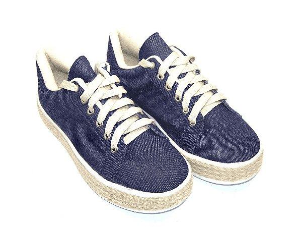 Tênis Jeans com Solado em Cortiça