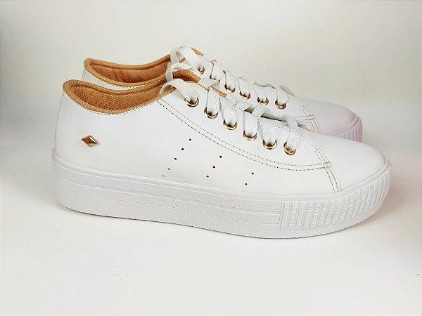 Tênis Flatform Branco com Pingente
