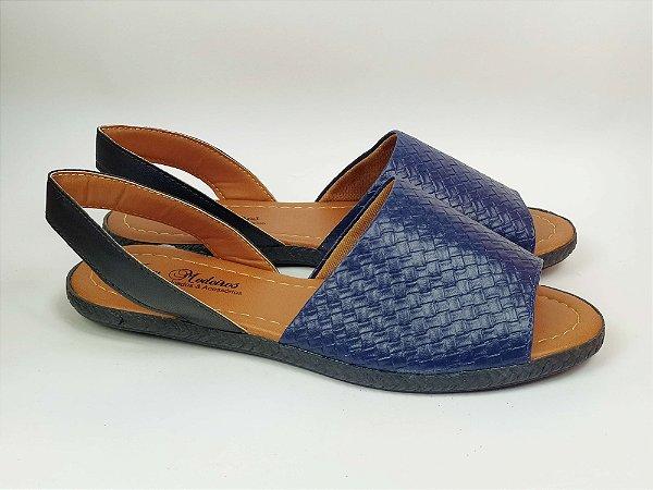 Sandália Rasteira Avarca Azul Marinho com Textura - 3 Pares 99,90