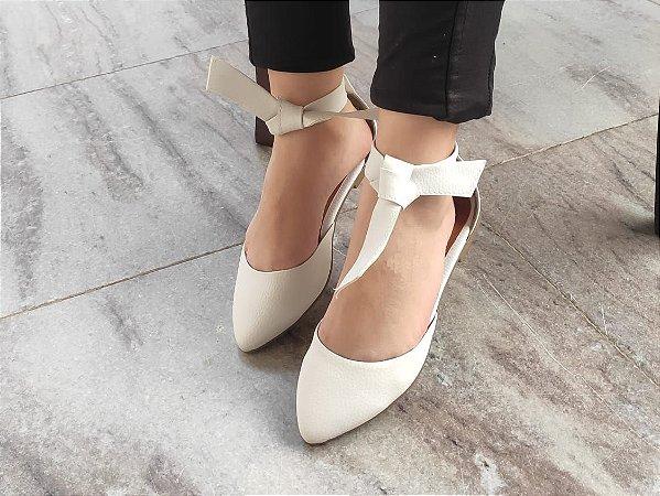 Sapatilha Bailarina Branca