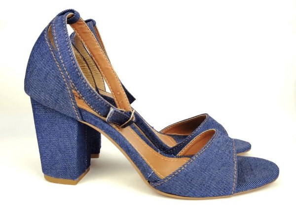 Sandália Jeans Salto 7 cm