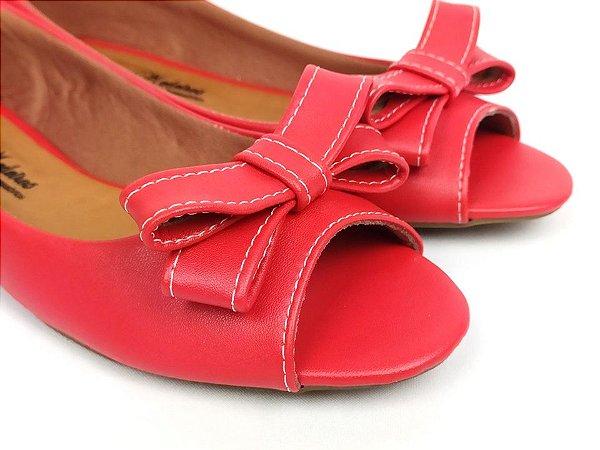 Peep Toe Vermelho com Laço - 3 Pares por 99,90