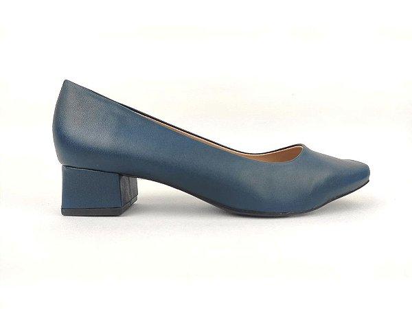 Scarpin Clássico Azul Marinho Salto 4 cm