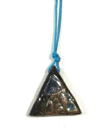 Colar Triângulo Turquesa Textura