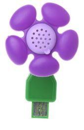 Aromatizador USB Flor roxa