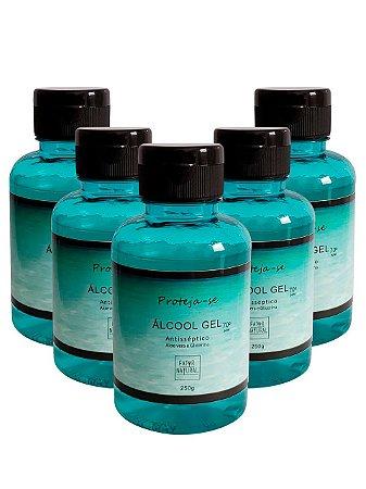 Kit 5 Álcool Gel com Aloe - PROTEJA-SE