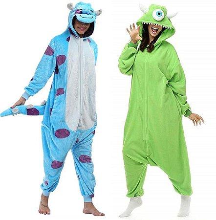 Kit 2 Pijamas Monstros SA Mike e Sullivan Kigurumi
