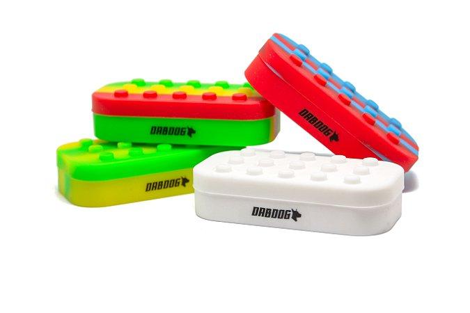 Pote de Silicone Lego Dabdog - 6+1