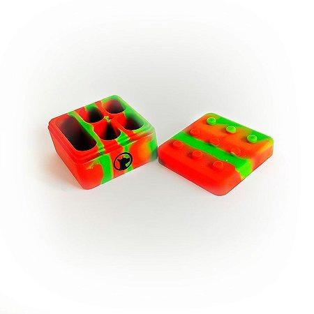 Pote de Silicone Lego DabDog - 4+1