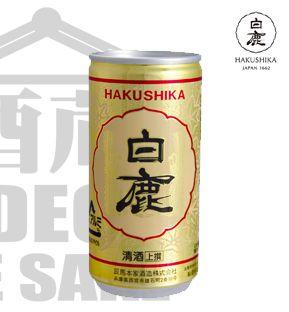 Sake HAKUSHIKA Josen Kuromatsu LATA 180ml