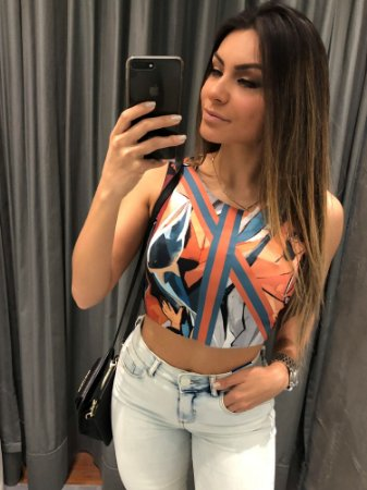 BLUSA CROPPED DUPLA FACE LP