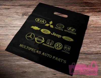 500 sacolas Plásticas Personalizadas 20x30