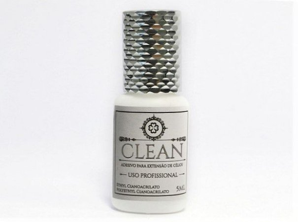 Cola para Extensão de Cílios  - Adesivo - CLEAN - Sem Troca - VALIDADE 19/03/2020