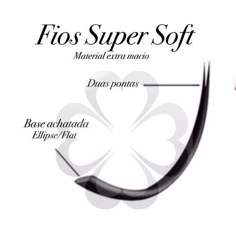Cílios  Fio a Fio  -  0.20 -  Curvatura CC -  Super Soft - Com 20 Fileiras