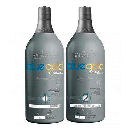 Salvatore Escova Progressiva Blue Gold Premium Sem formol 2X1000-