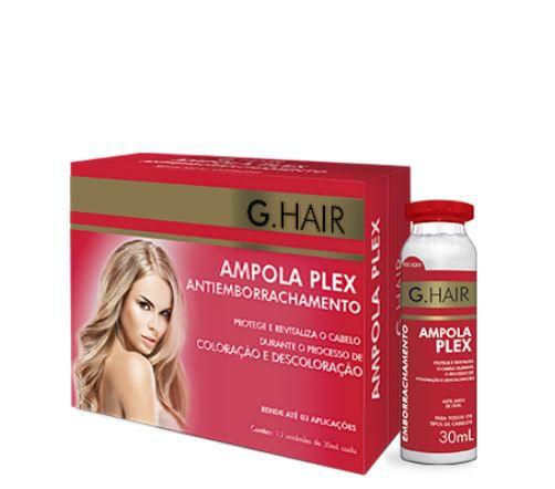 Caixa de Ampola Plex Antiemborrachamento G.Hair 30ml x 12 unidades