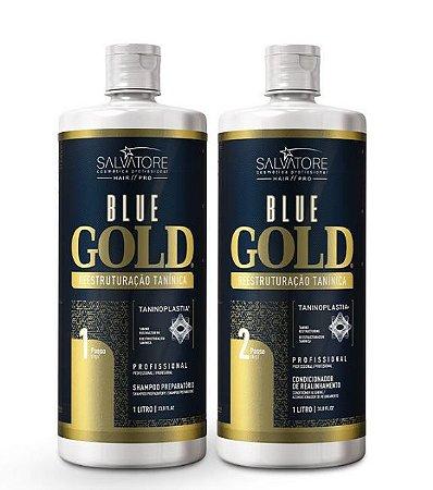 Salvatore Blue Gold - Escova Progressiva 2x1 L (Nova Embalagem)