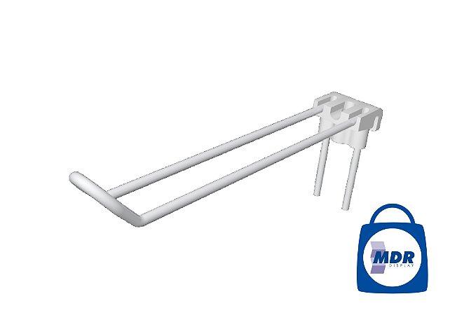 Gancho Duplo para Tela com Encaixe Plástico / Kit com 50 unidades