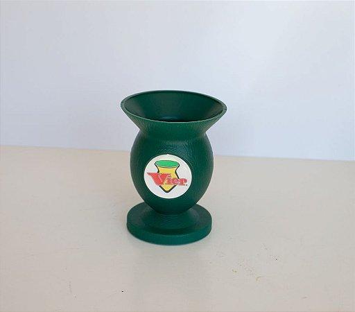 Cuia PVC Com pezinho Verde escuro