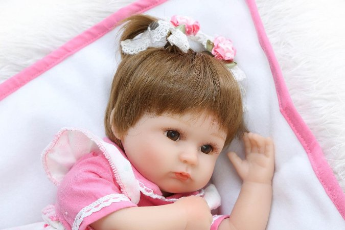 Bebe Reborn Tamires com Mantinha