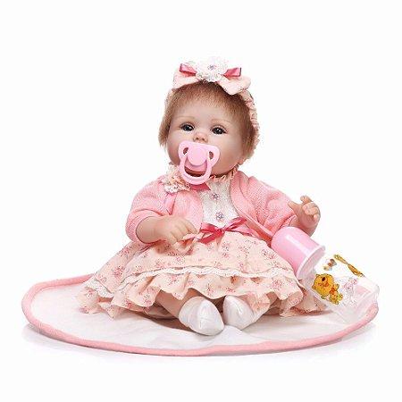 Bebê Reborn Barbara com Mantinha