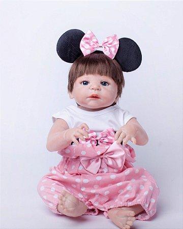 Bebê Reborn Miney Fofinha Feita em Silicone